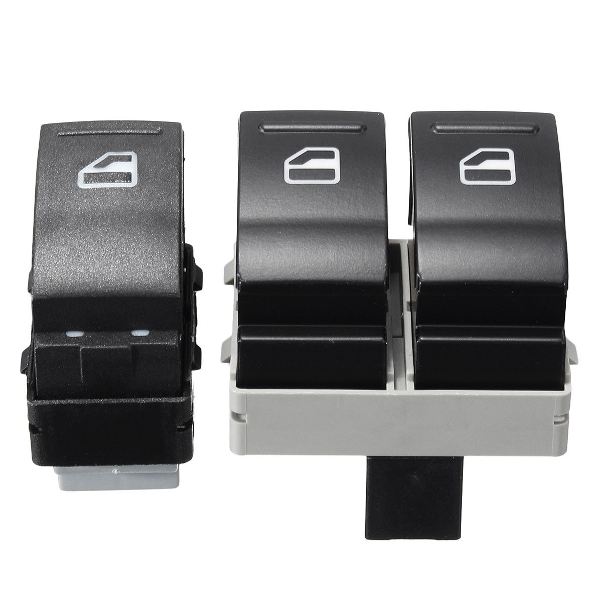 2x Electric Window Switch Driver Side For Vw Transporter T5 T6 7e0959855a Black