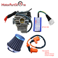 24mm Carburetor for GY6 150cc with Racing AC CDI Ignition Coil Air Filter Chinese Moped Scooter Carb