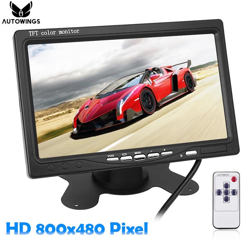 7 zoll Auto Monitor für Rückfahr Kamera Auto Parkplatz Backup Reverse Kopfstütze Monitor HD 800*480 tft- lcd Screen 2CH für Lkw