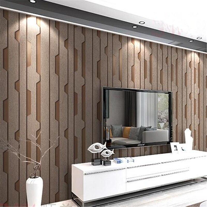 Beibehang salon papier peint moderne fond minimaliste chambre restaurant élégant vertical rayé cerf velours papier peint