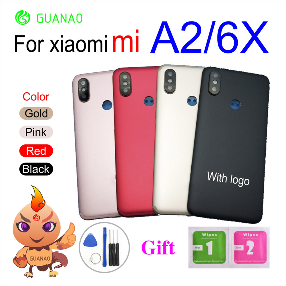 For <font><b>Xiaomi</b></font> <font><b>Mi</b></font> <font><b>A2</b></font> 6X <font><b>Battery</b></font> <font><b>Cover</b></font>+Power Volume Button Replacement For <font><b>Xiaomi</b></font> <font><b>Mi</b></font> <font><b>A2</b></font> 6X <font><b>Battery</b></font> <font><b>Cover</b></font> Back Housing Rear Door Case image