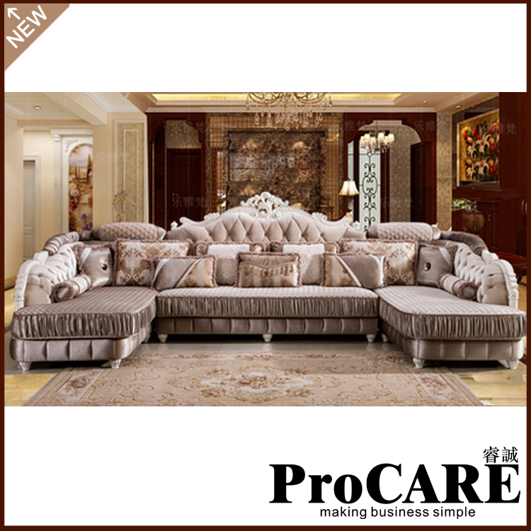 European Style Hotel Use Living Room Furniture Sofa Set