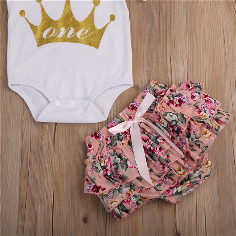 Newborn Toddler Baby Girls Clothes High Quality Short Sleeve Romper Jumpsuit Playsuit Outfits Baby Clothing
