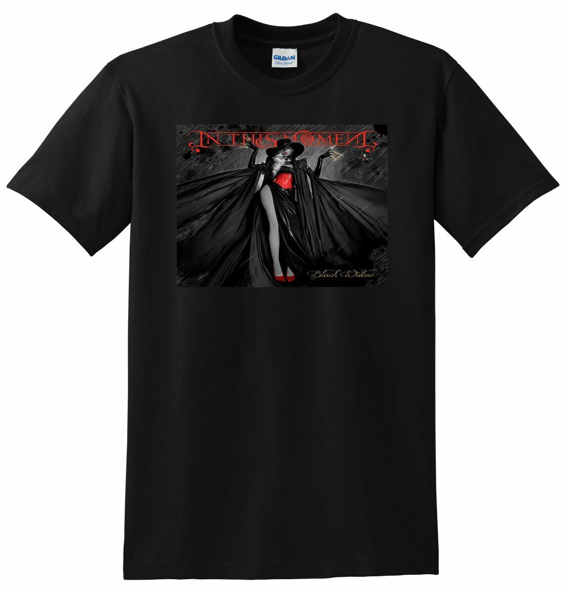 BLACK WIDOW T SHIRT In This Moment Vinyl Cd Poster Tee New 2019 Fashion Mens T-Shirts