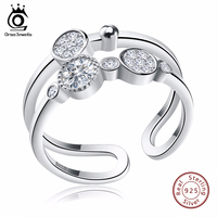ORSA JEWELS Unique Bridal Set Sterling 925 Silver Rings Rhodium Plated Fashion Band Propose Rings For