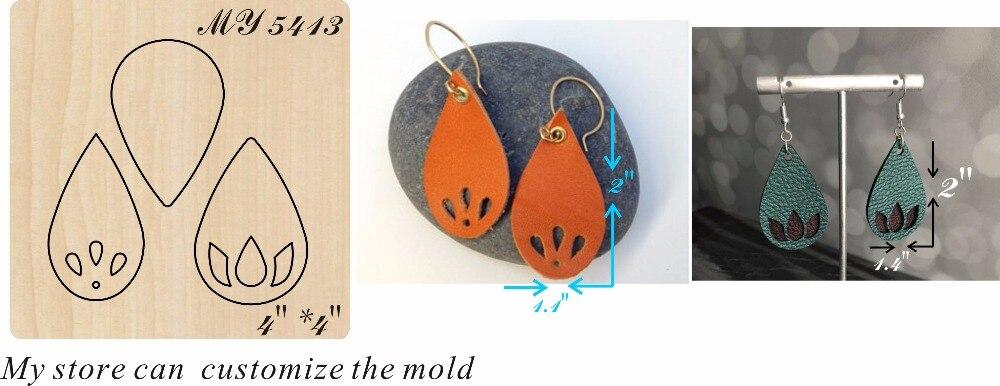 Drop-shaped earrings moulds die cut accessories wooden die Regola Acciaio Die Misura (MY  )Drop-shaped earrings moulds die cut accessories wooden die Regola Acciaio Die Misura (MY  )