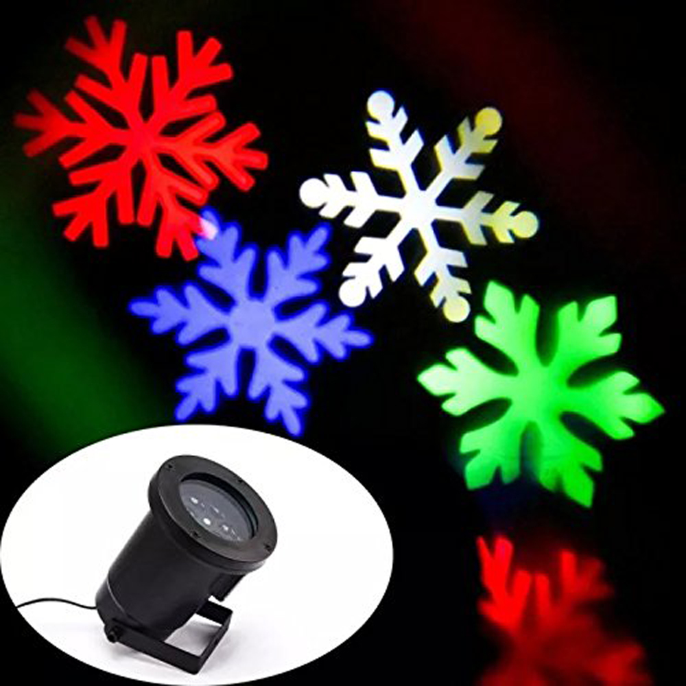 Outdoor holiday light led snowflake projector white red - Snowflake exterior christmas lights ...