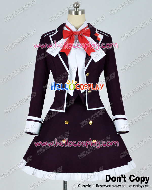 Japanese Anime Outfit Diabolik Lovers Cosplay Yui Komori Purple Uniform Costume H008