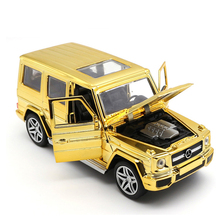 1:32 G65 SUV Off-road Vehicles Car-styling Car Models Plating Toy Machines Pull Back Light Diecasts `Metal Toys For Children