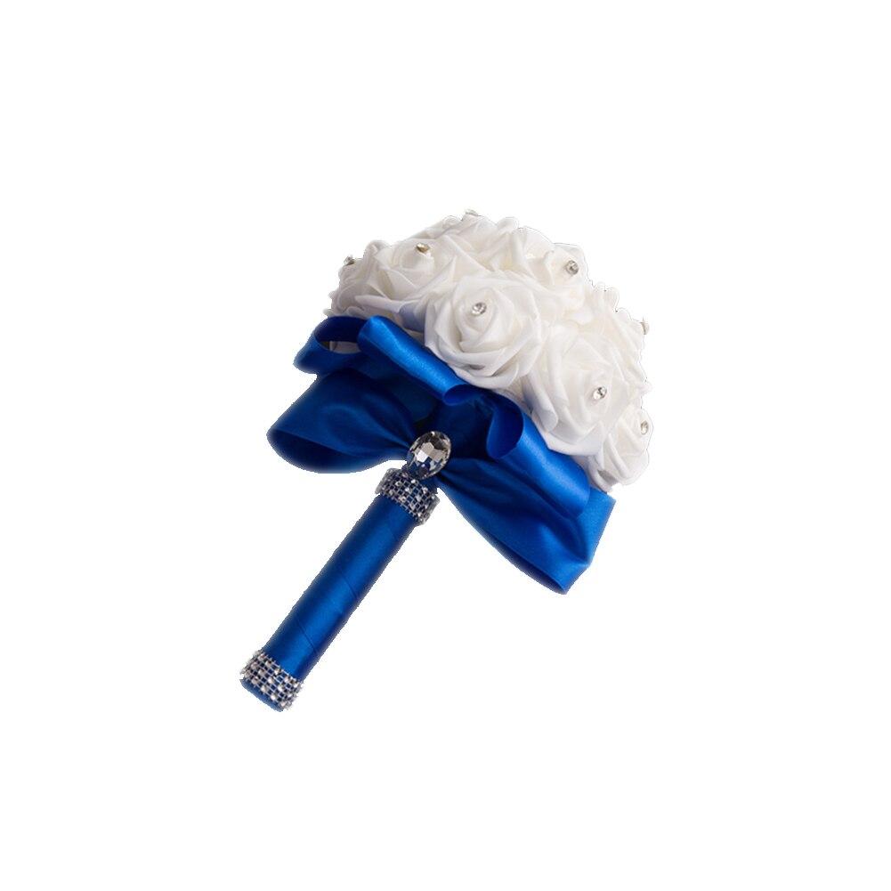 Aufstrebend Hochzeit Bouquets Simulation Kristall Rosen Braut Brautjungfer Hochzeit Hand Bouquet Künstliche Blumen Werfen Bouquet Blau Bl Gut Verkaufen Auf Der Ganzen Welt