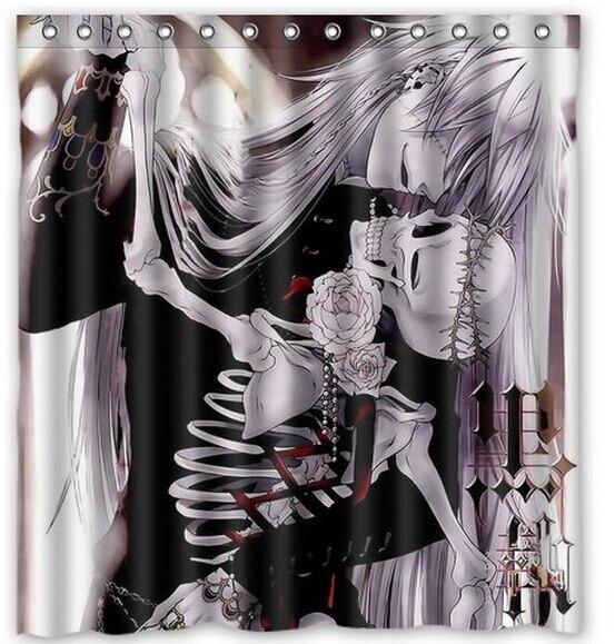 Decoration black butler Kiss skull Custom Shower Curtain Home Decor ...