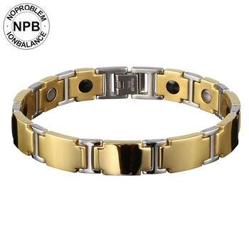 1fb19a48e8c3 Noproblem 044 pulsera de germanio de turmalina de metal informal para  deportes bonitos