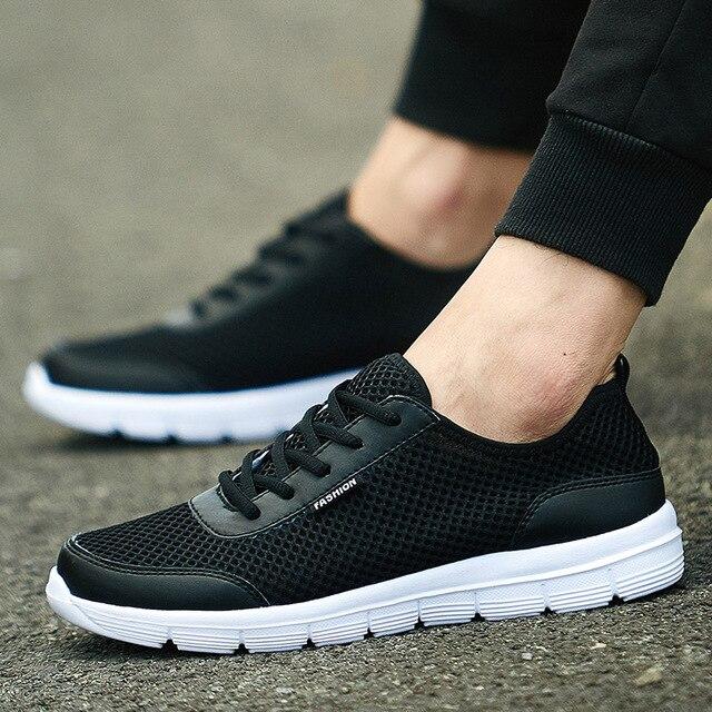 Men Shoes 2017 Summer Breathable Casual Shoes Fashion Comfortable Lace up Men Shoes Plus Size 38-48