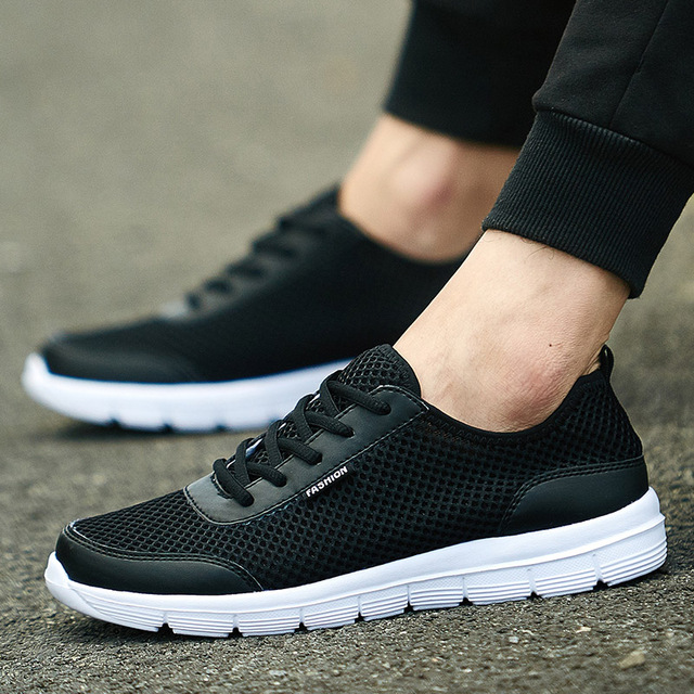 Men Breathable Casual Shoes Fashion Comfortable Lace up Men Shoes