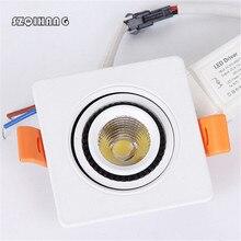 Free Shipping 15W/10W/7W COB  Hight light LED Downlight IP65 Waterproof Bathroom Dimmable Ceiling Spot Light