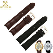 Genuine leather bracelet curve end watch strap 20mm for BL9002-37 05A BT0001-12E 01A watch band 21mm watchband 22mm все цены