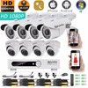 Eyedea 8 CH Remote Phone View Video DVR 2 0MP 1080P Bullet Dome Outdoor IR Cut