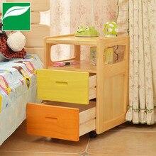Сплошная деревянная прикроватная Столик Маленький Мини Простой хранения сосновые шкафы простые креативные спальни боковой шкаф