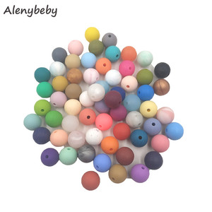 Image 2 - 100pc Silicone Baby Teething Beads 15mm Safe Food Grade Care Chew Round BPA Free Silicone Beads Teether Nursing Necklace
