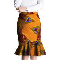 Fashion African Fishtail Skirt Women Fashion Skirts Ladies Dashiki Element Africa Clothing Tailored Custom