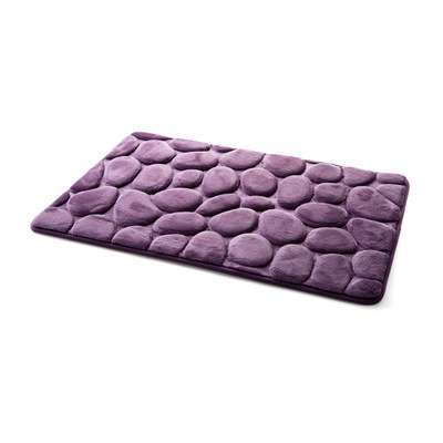 Coral Fleece Bathroom Memory Foam Rug Kit Toilet Pattern Bath Non-slip Mats Floor Carpet Set Mattress for Bathroom Decor