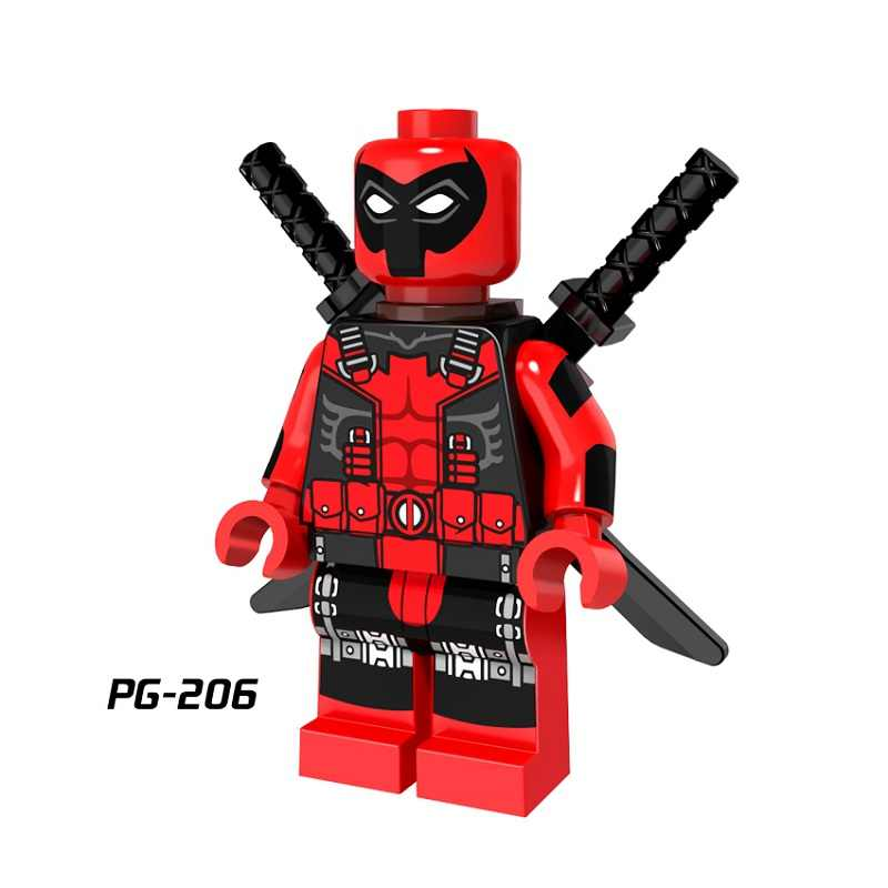 Super hero Wolf Black Spider Girl Eraser Man Claculator Spider Woman Deadpool Super Hero Building Blocks Children Gift