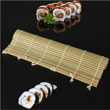 Green Sushi Kit Bamboo Maker Mat Rice Ball Vegetable Meat Roller Magic Stuffed Grape Rolling Tool