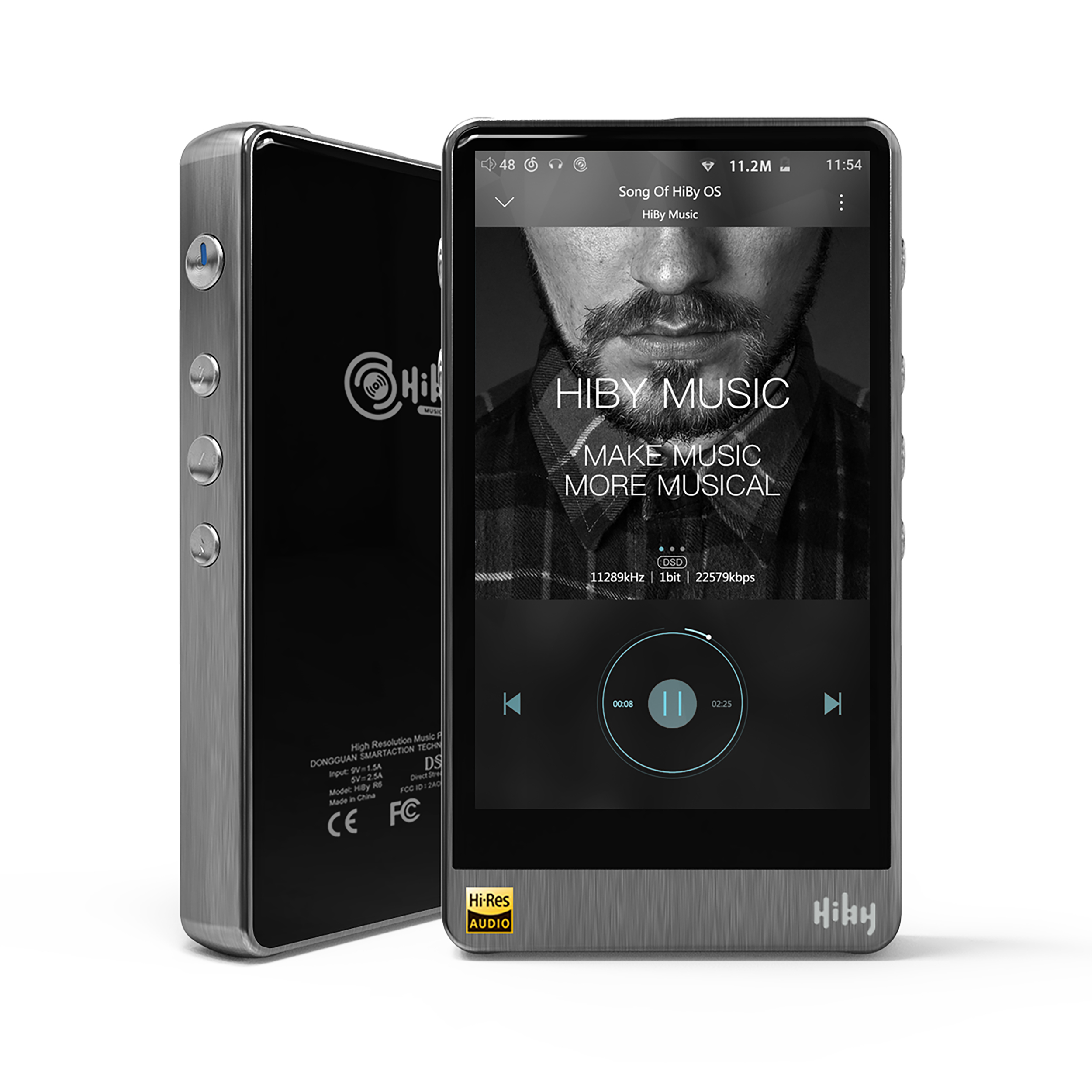HiBy R6 Pro Lossless Music Player High Resolution Digital Audio Player Hi-Fi Bluetooth MP3 Player (Stainless Steel)