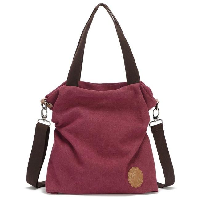 Travistar 2018 Women Canvas Shoulder Bag Casual Tote Vintage Cross Body Handbag Satchel Purse