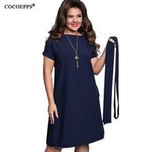 COCOEPPS Elegant Casual font b women b font blue font b dresses b font big sizes