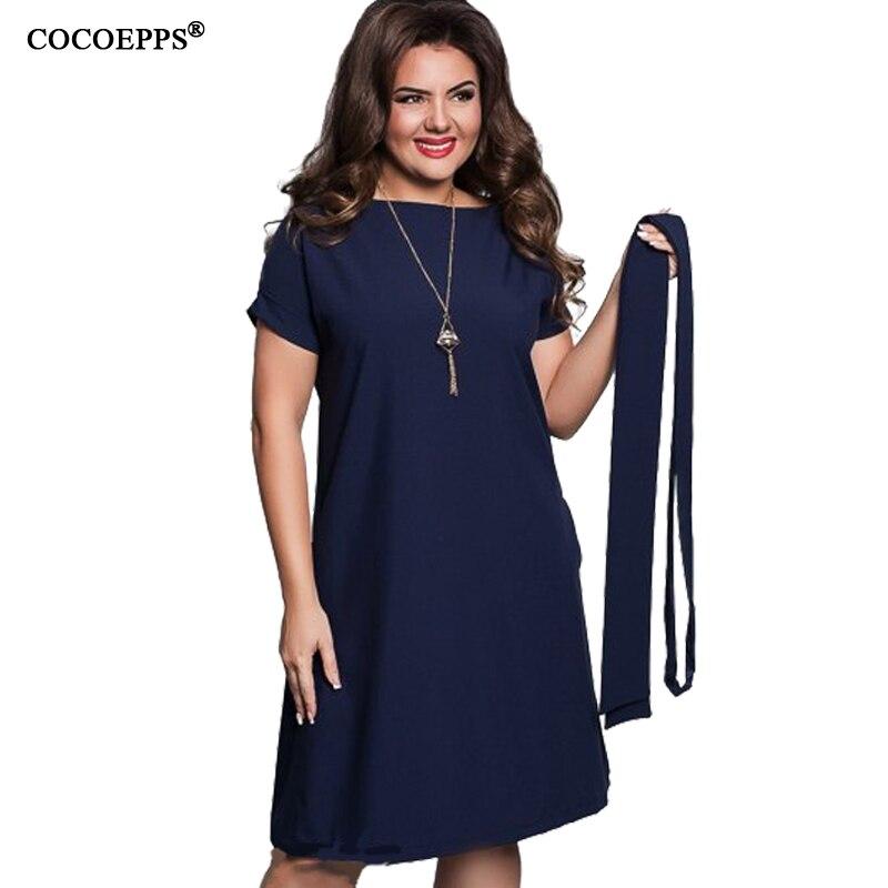 Cocoepps elegantes mujeres ocasionales azul vestidos tallas grandes nuevo 2017 m