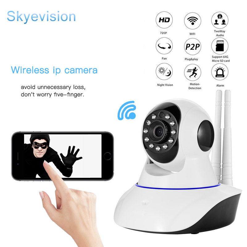 Skyevision Wireless IP Camera Wifi Home Security Night Vision Surveillance camera CCTV Audio Recording Indoor Baby Monitor eazzy bc 688 bulb cctv security dvr camera auto control light and recording motion dection night vision circular storage