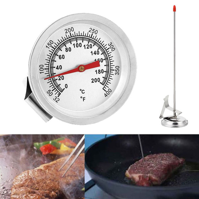 New Stainless Steel Silver Oven Thermometer Gauge Probe Tools Cooking 200 Degrees Celsius Household Cocina
