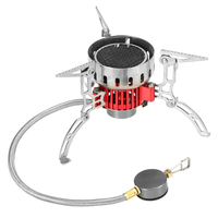 Outdoor Stove Ultralight Camping Gas Stove Furnace Portable Foldable Windproof Stove Cook Picnic Hiking Backpacking Mini Burners