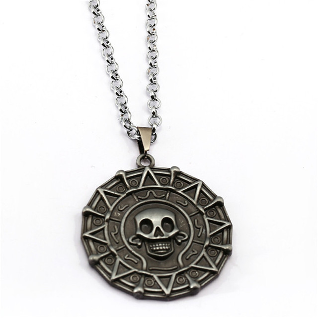 12pcs 3 colors pirates of the caribbean necklace medallion jack 12pcs 3 colors pirates of the caribbean necklace medallion jack sparrow aztec coin vintage pendant johnny mozeypictures Images