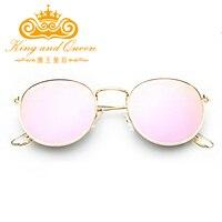 2016 Retro Round Sunglasses Women Men Luxury Brand Designer Alloy Mirror Sun Glasses For Women Ray