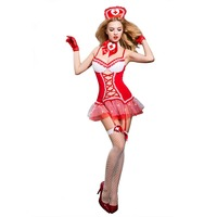 New Porn Red Lingerie Women Sexy Hot Erotic Hollow Out Nurse Costume Cosplay Tenue Sexy Underwear Erotic Lingerie Porno Costumes