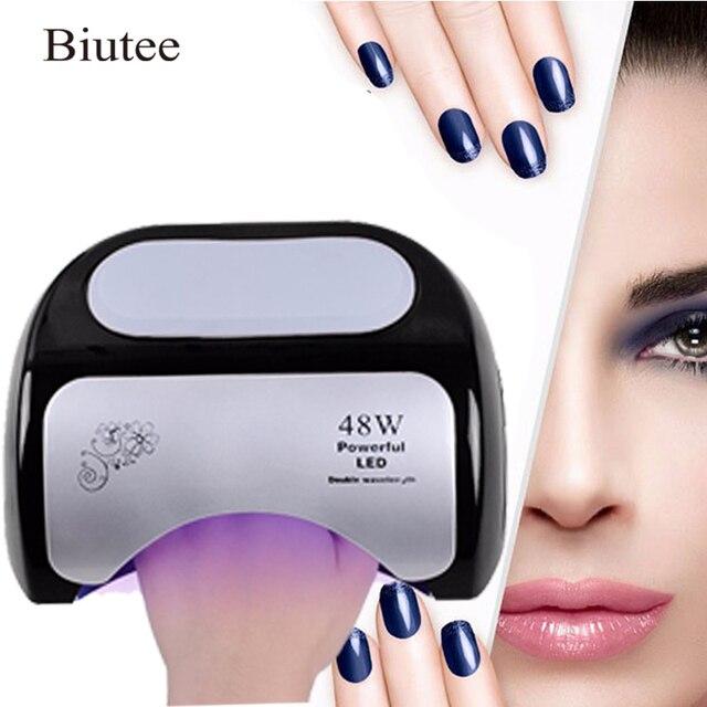 Biutee 48 W נייל מייבש פולני מכונת CCFL UV מנורת LED נייל מנורת עבור ג 'ל לק אמנות אוטומטית יד חיישן נייל אמנות כלים