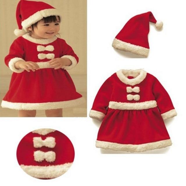 baby christmas gift girl christmas dress santa claus costume child christmas bodysuithat set