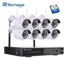 Techage 8CH 1080 P HD Wireless NVR Kit Wifi CCTV-System 8 STÜCKE 2.0MP Outdoor-überwachungskameras Videoüberwachung Set P2P APP ansicht