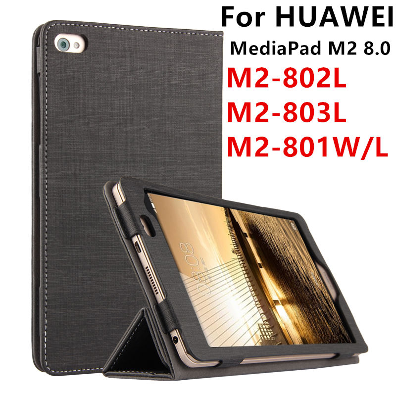 Case For Huawei MediaPad M2 8.0 Protector Smart cover PU Leather Tablet For HUAWEI M2-801W 801L M2-803L M2-802L Cases Protective цена и фото