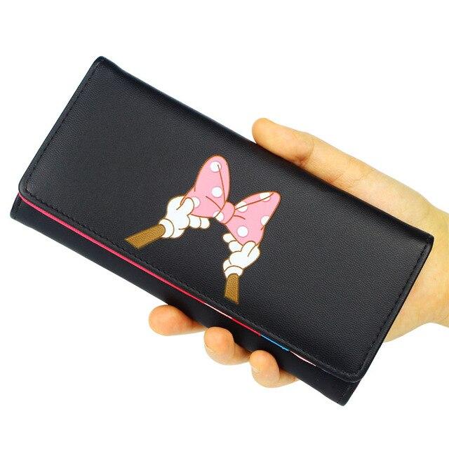 Nuevos bolsos de señora bolsos de diseño de marca carteras de mujer de cuero de PU plegable dinero monedero tarjetas ID titular mujer Bow Wallet bolsas
