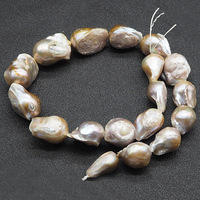 Gold Purple Natural Baroque Freshwater Pearl Beads 20 25cm High Quality DIY Jewelry Necklace Earrings Pearl Beads 18pcs/lot