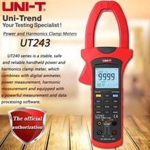 UNI T UT243 فرضت التوافقية السلطة متر ، 1000A صحيح RMS التيار الكهربائي التوافقيات تحليل تسلسل المرحلة كشف USB نقل البيانات
