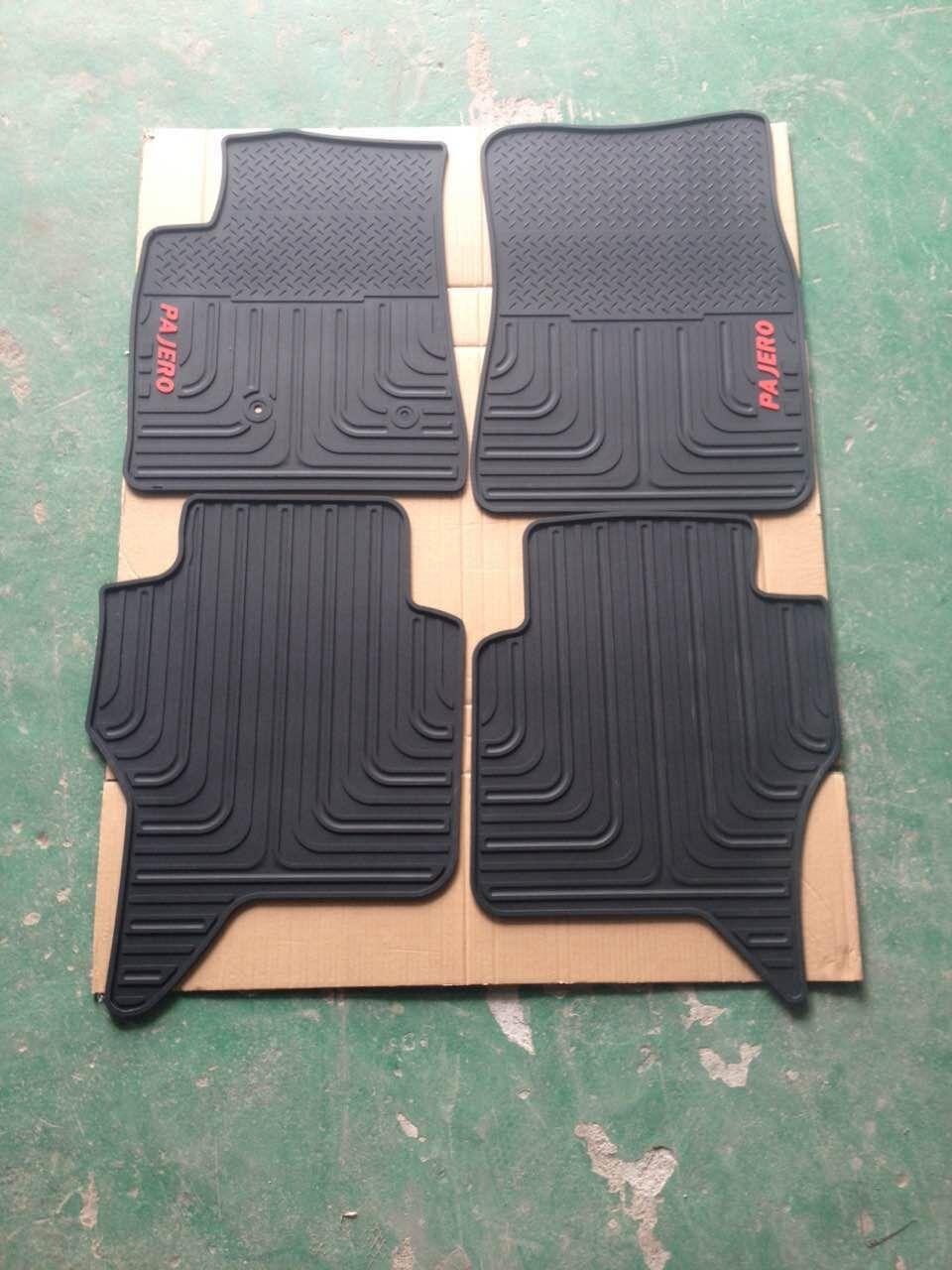 Floor mats in spanish - Dedicated No Odor Rubber Car Floor Mats Green Latex Carpets For Mitsubishi Pajero Sport 2016 Environmental