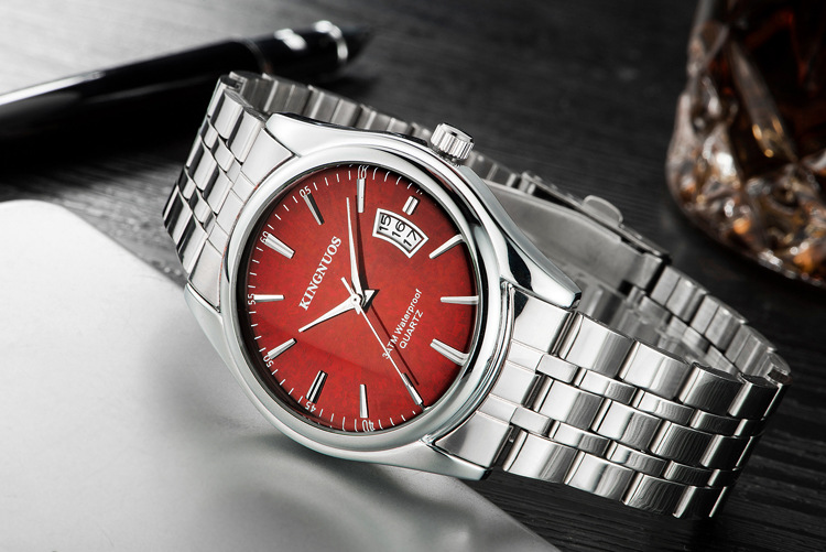 Kingnuos Tops Luxury Brand Men Full Stainless Steel Business Watches Men's Quartz Date Clock Men Wrist Watch relogio masculino 11