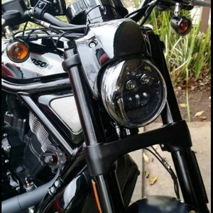 Image 5 - Black V Rod Muscle Night Rod LED Motorcycle Headlight For  V Rod VRSCF VRSC VRSCR 2002 2017