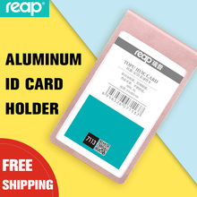 Reap 7113 54*85mm Aluminum Alloy Badge Holder+Lanyard Badge Holder Bus ID Card Holders Customized Office suppie
