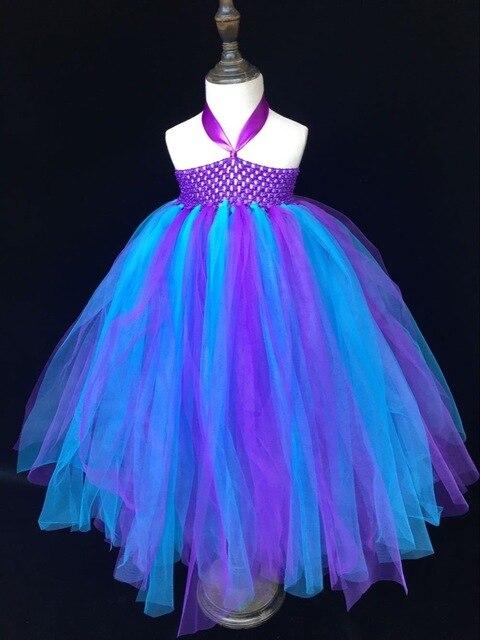 f8f83afac4562 Multicolore filles Tutu robe bébé moelleux Crochet Tulle robe robe de bal  avec bandeau enfants robes