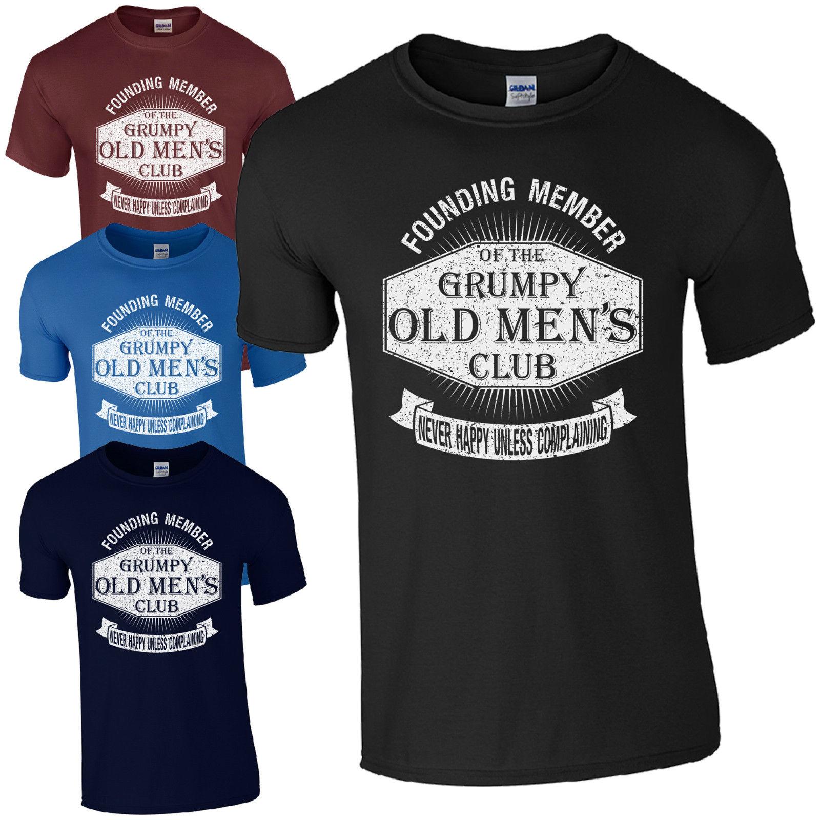 NEW Grumpy Old Mens Club T-Shirt - Funny Dad Grandad Fathers Day Joke Gift Top